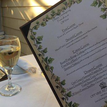Off Vine Restaurant Hollywood Menu