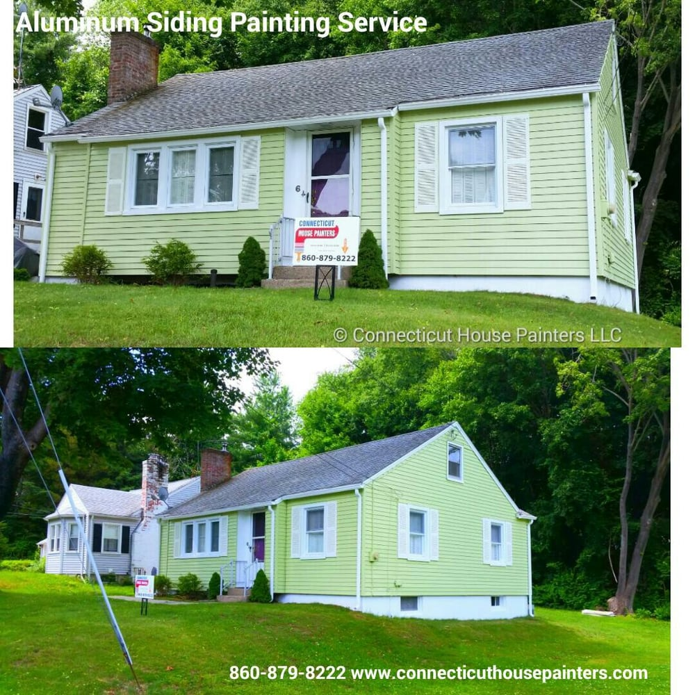 Exterior Aluminum Siding Painting Quaker Hill Ct Connecticut House Painters Llc Free Quotes