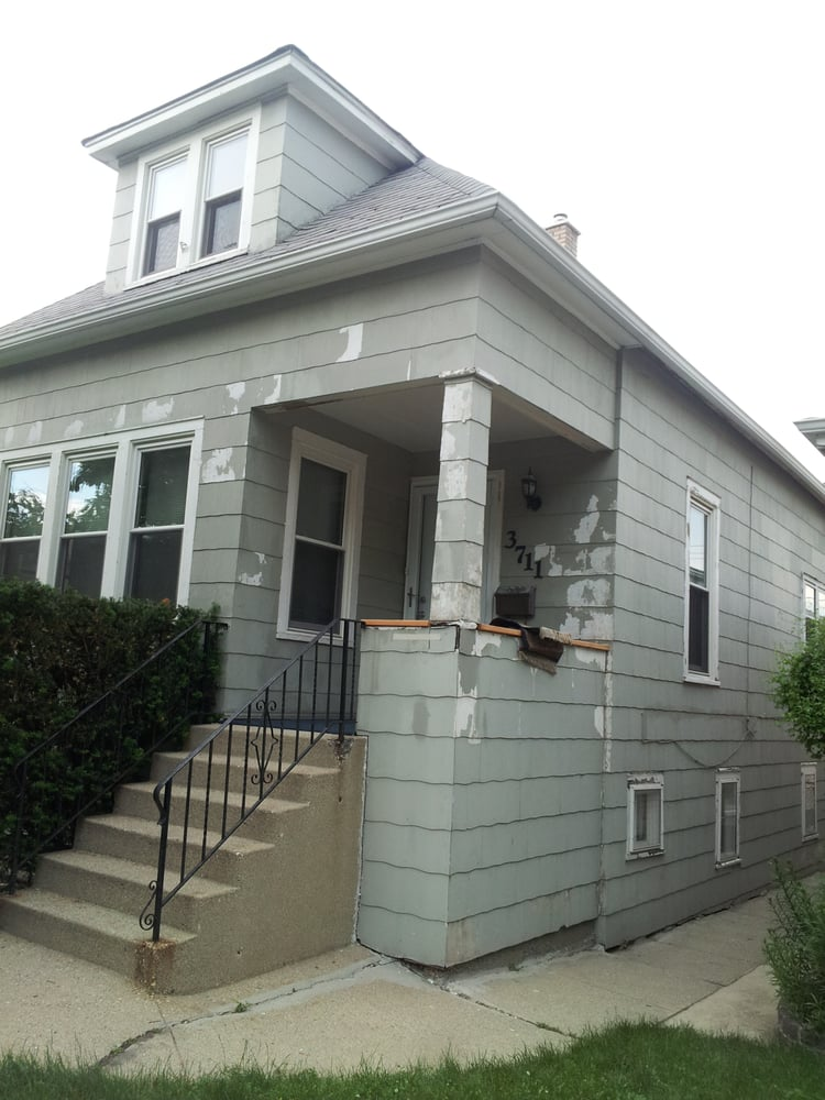Chicago painters inc exterior painting portage park - Prep exterior walls for painting ...