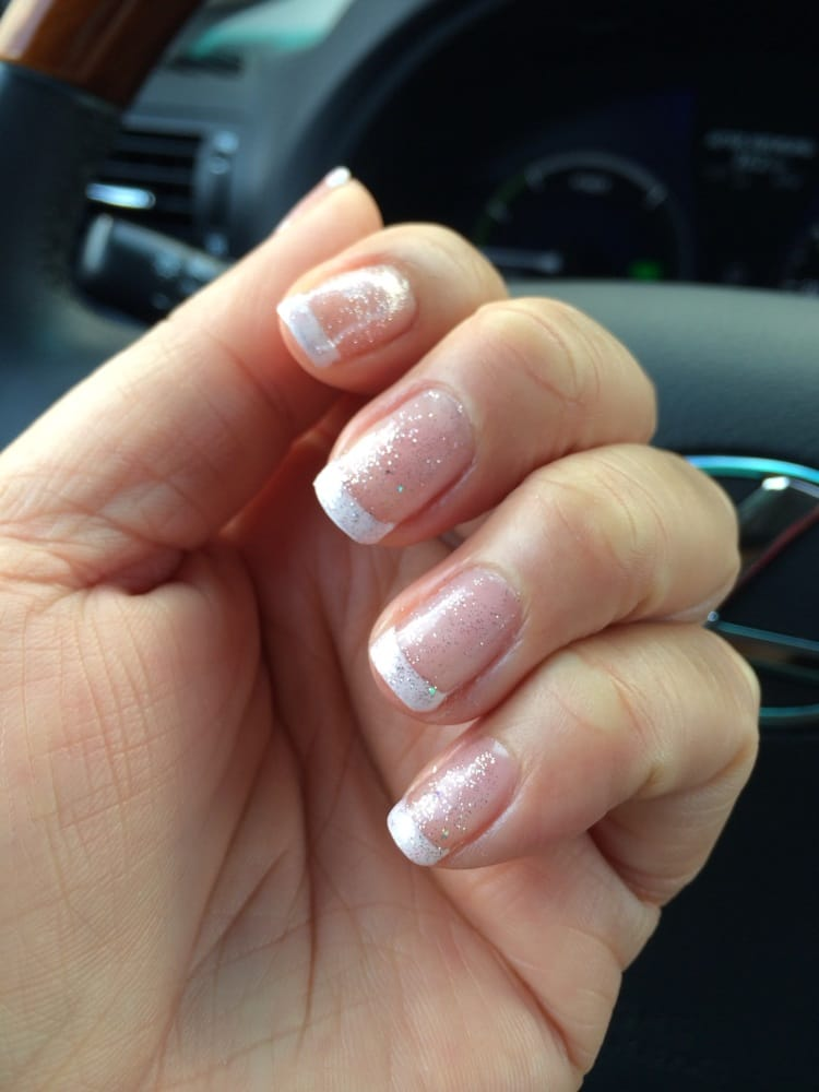 French Shellac Gel With Light Pink Glitter Yelp