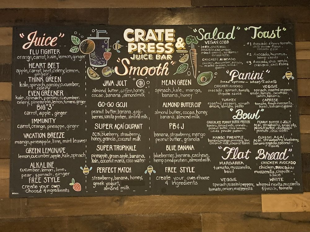 Crate & Press Juice Bar: 266 N Keswick Ave, Glenside, PA