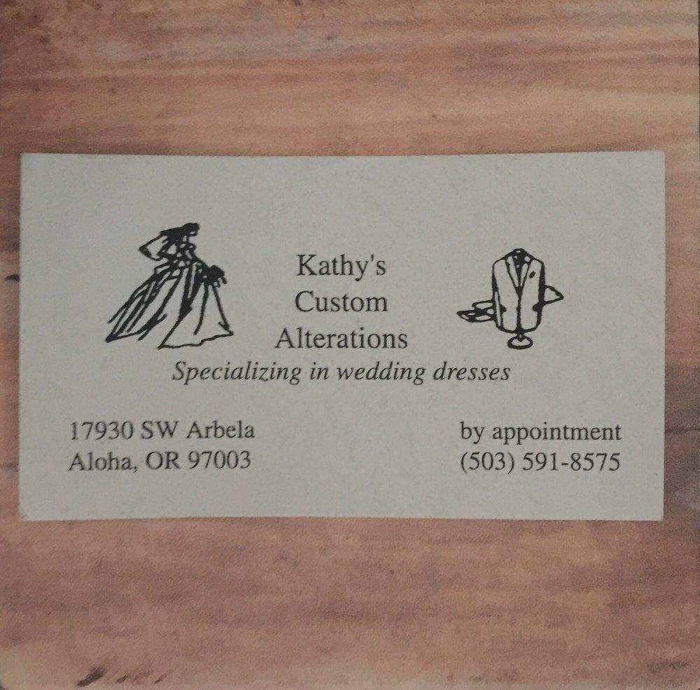 Kathy's Custom Alterations: 17930 SW Arbela Ct, Beaverton, OR
