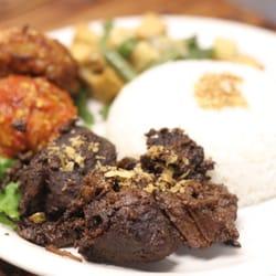 Photo Of Indo Cafe Seattle Wa United States Mini Rijstaffel Beef Rendang
