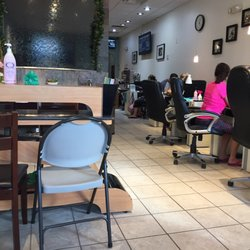 Photo of L.A Nails - Gahanna, OH, United States. Inside the nail shop