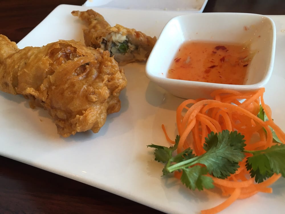 Angel wings stuffed chicken wings are a bit greasy on for Angels thai cuisine