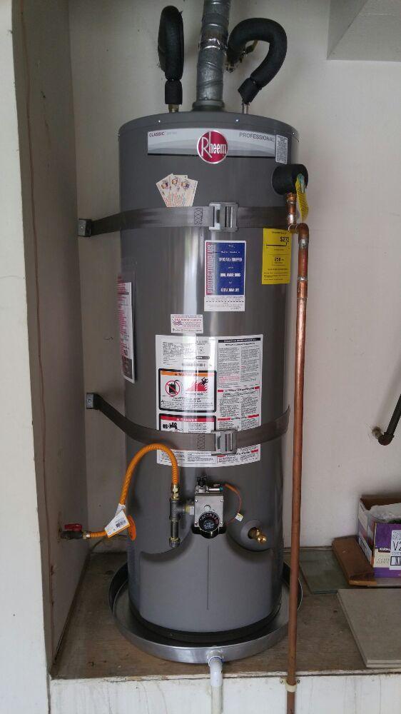 50 Gal Rheem Water Heater Installation In Irvine Ca