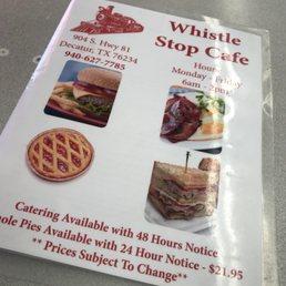 Whistle Stop Cafe Menu Decatur Tx