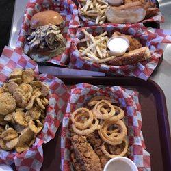 Photo Of Buff S Canyon Tx United States Mushroom Queso Burger Hand
