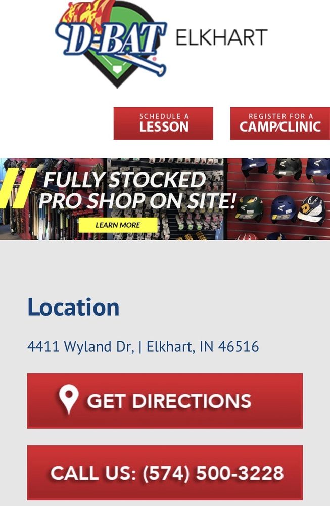 D-BAT Elkhart: 4411 Wyland Dr, Elkhart, IN