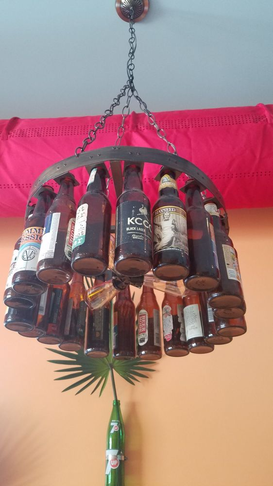 Situation Beer bottle chandelier more than