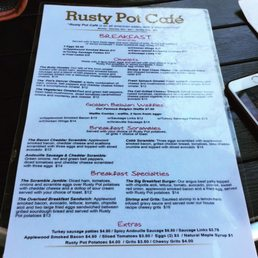 ... Photo taken at Rusty Pot Cafe by Dee D. on 11/12/2016 ...