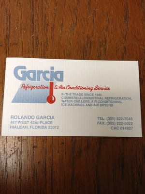 Garcia refrigeration air conditioning service 467 w 43rd pl photo of garcia refrigeration air conditioning service hialeah fl united states reheart Gallery