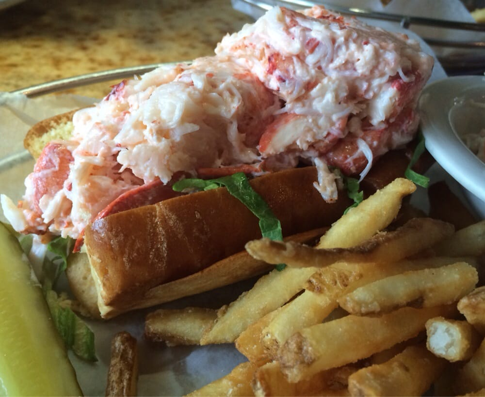 The medium lobster roll we 39 ll worth it yelp for One fish two fish restaurant