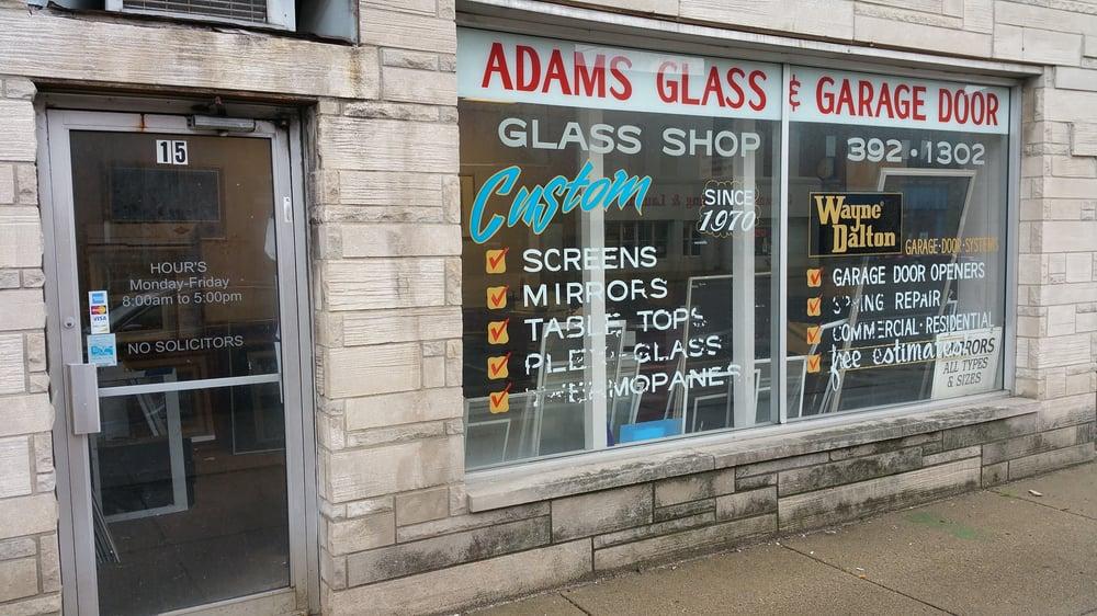 Adams Glass Garage Doors Windows Installation 15 W Broadway St