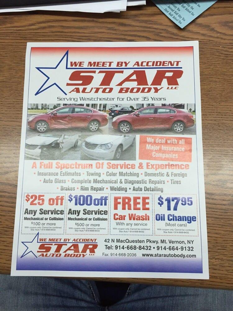 Star Auto Body Body Shops 42 N Macquesten Pkwy Mount Vernon