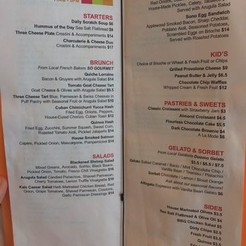 Sono Cafe Tampa Menu