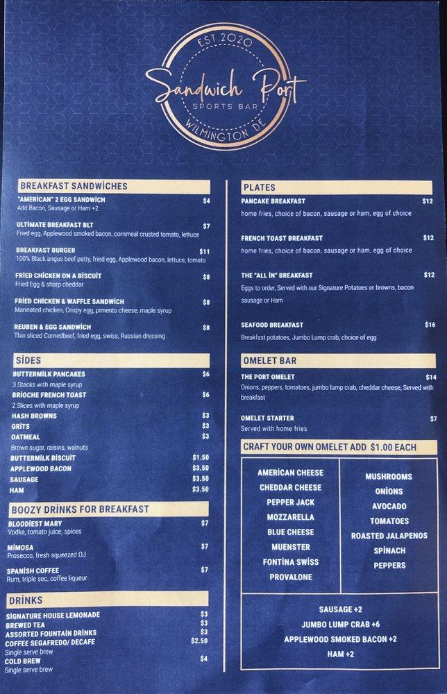Sandwich Port Sports Bar: 630 Naamans Rd, Claymont, DE