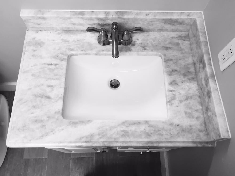 Bathroom Vanity Top Shadow Storm Quartzite With Rectangle