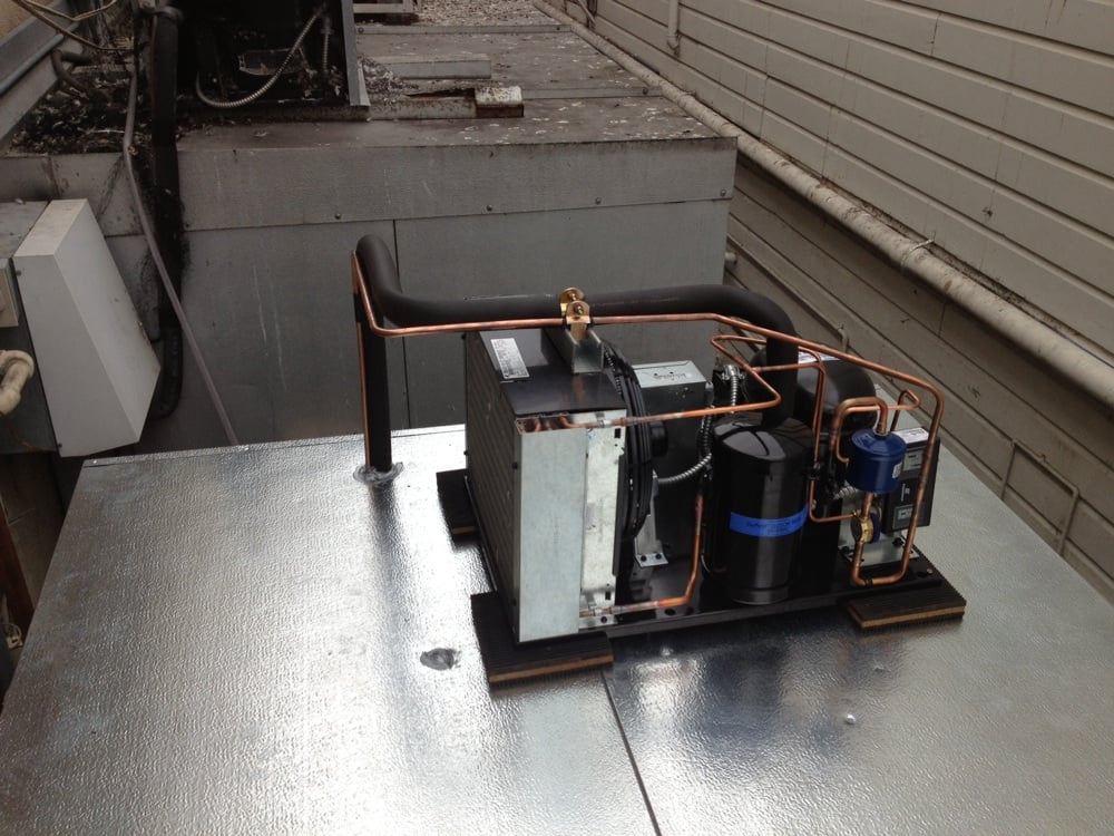 Walk In Freezer Condensing Unit New walk-in cooler with copeland 1hp condensing unit on ...