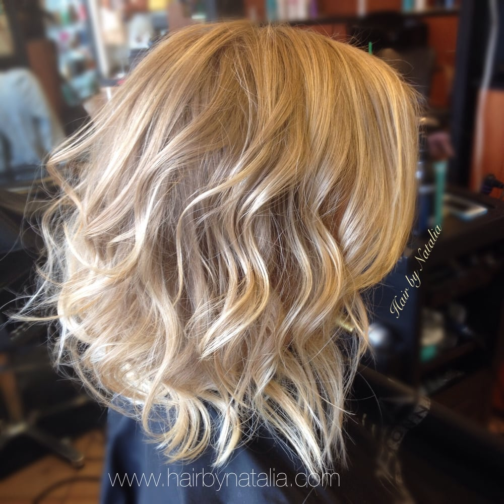 Blonde Balayage With Messy Beachy Waves On Short Hair Yelp