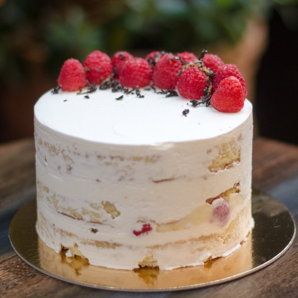 Image result for Naked Earl Grey Cake With Raspberry cake