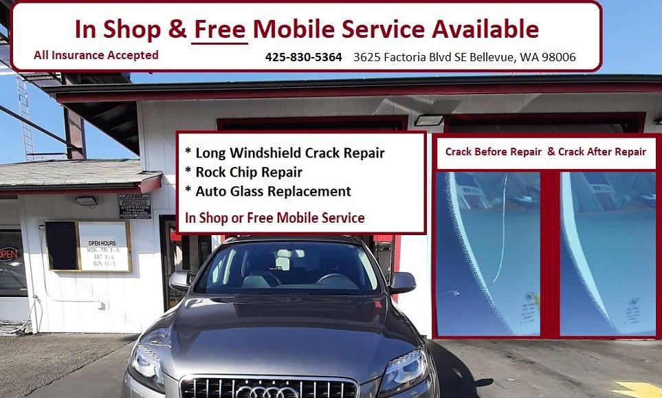 Al's Windshield Repair & Replacement Company: 3625 Factoria Blvd SE, Bellevue, WA