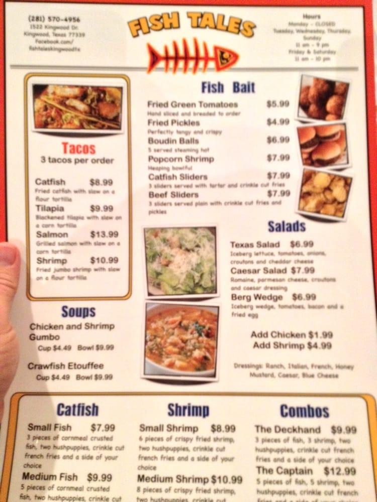 Menu yelp for Fish tales menu