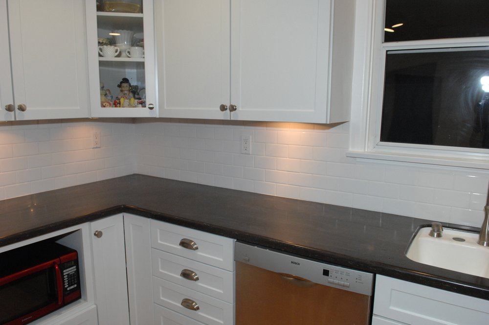 Outstanding Glendale Kitchen Backsplash 3 X 6 Subway Tile White On Beutiful Home Inspiration Cosmmahrainfo