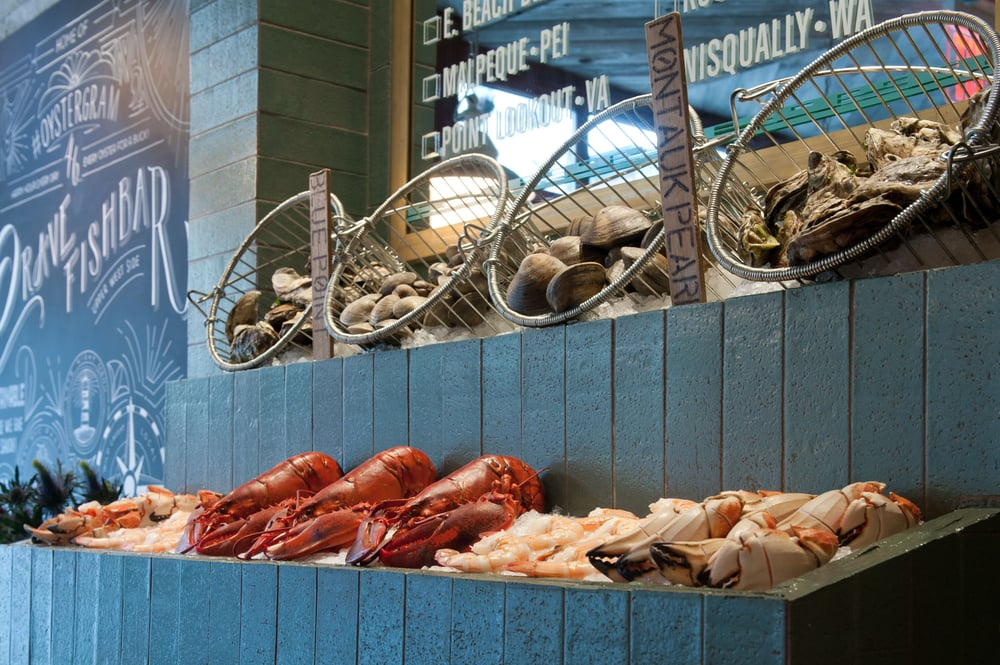 Daily selection of raw bar yelp for Crave fish bar
