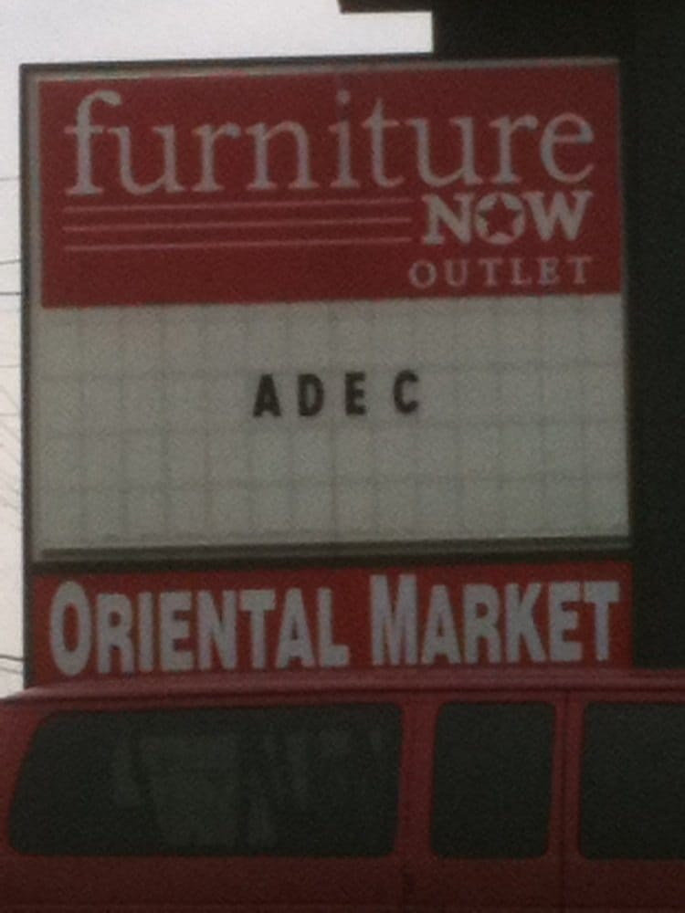 The Store Isnt Visible From The Road And The Sign Is Small So Look For The Furniture Now Sign