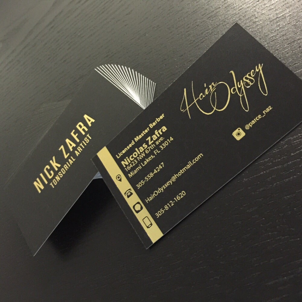 Business cards with matte finish gold foil yelp photo of elite graphics miami lakes fl united states business cards with colourmoves
