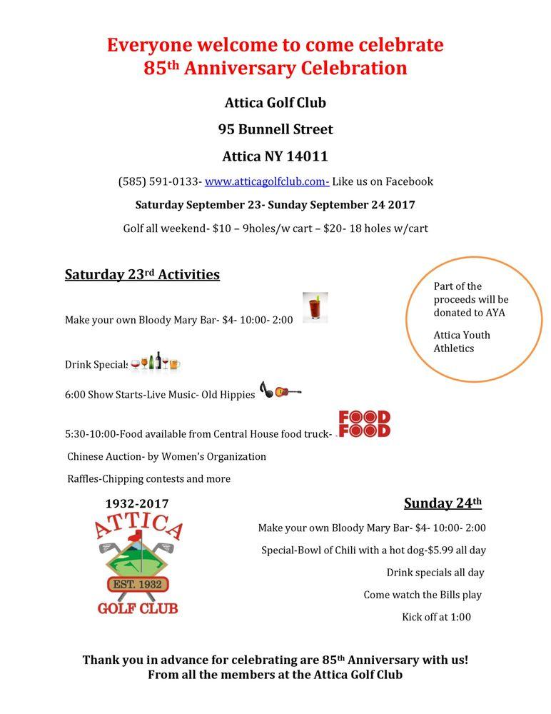 Attica Golf Club: 95 Bunnell St, Attica, NY