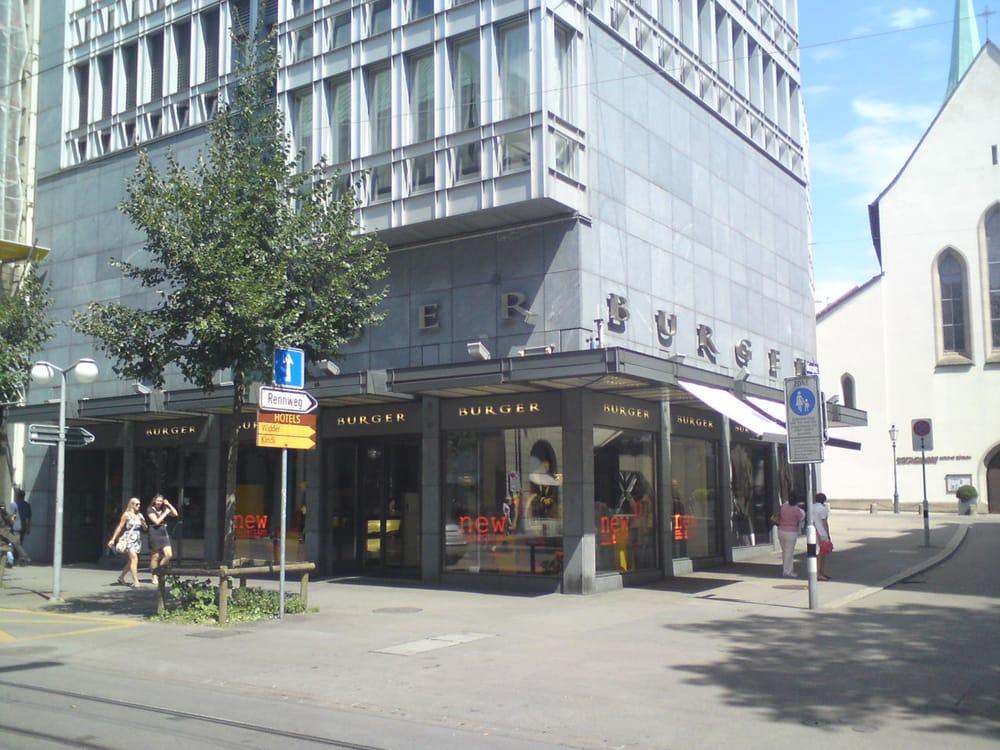 burger abbigliamento bahnhofstrasse 42 kreis 1 zurigo z rich svizzera numero di. Black Bedroom Furniture Sets. Home Design Ideas