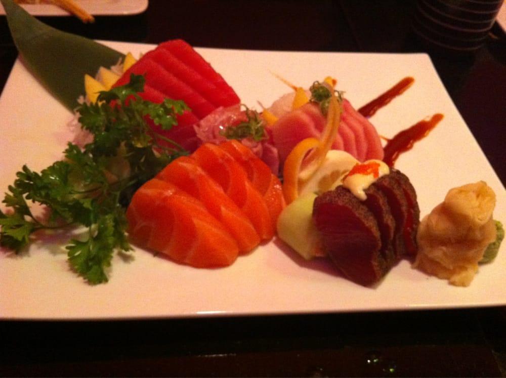 Sashimi: salmon, tuna, hamachi, striped bass and black ...