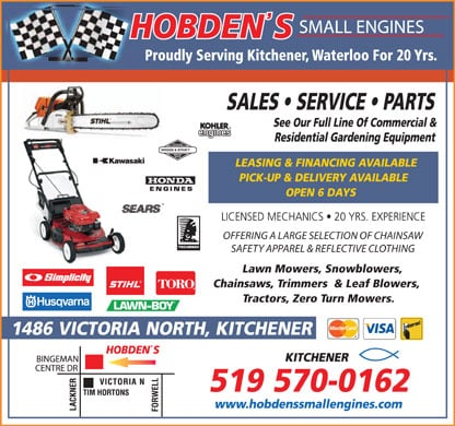 Hobden S Small Engines Kitchener On
