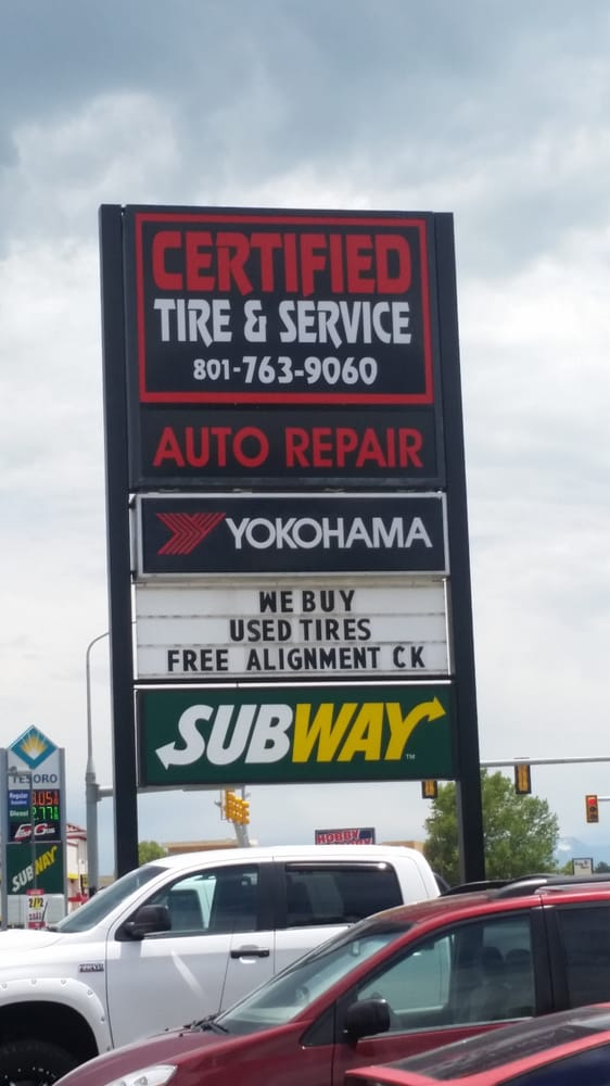 Certified Tire & Service: 338 NW State Rd, American Fork, UT