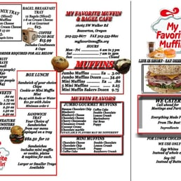 My Favorite Muffin And Bagel Cafe Menu