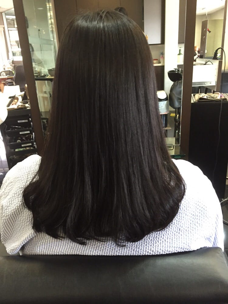 Straight Perm With C Curl Perm By Minjoo Yelp