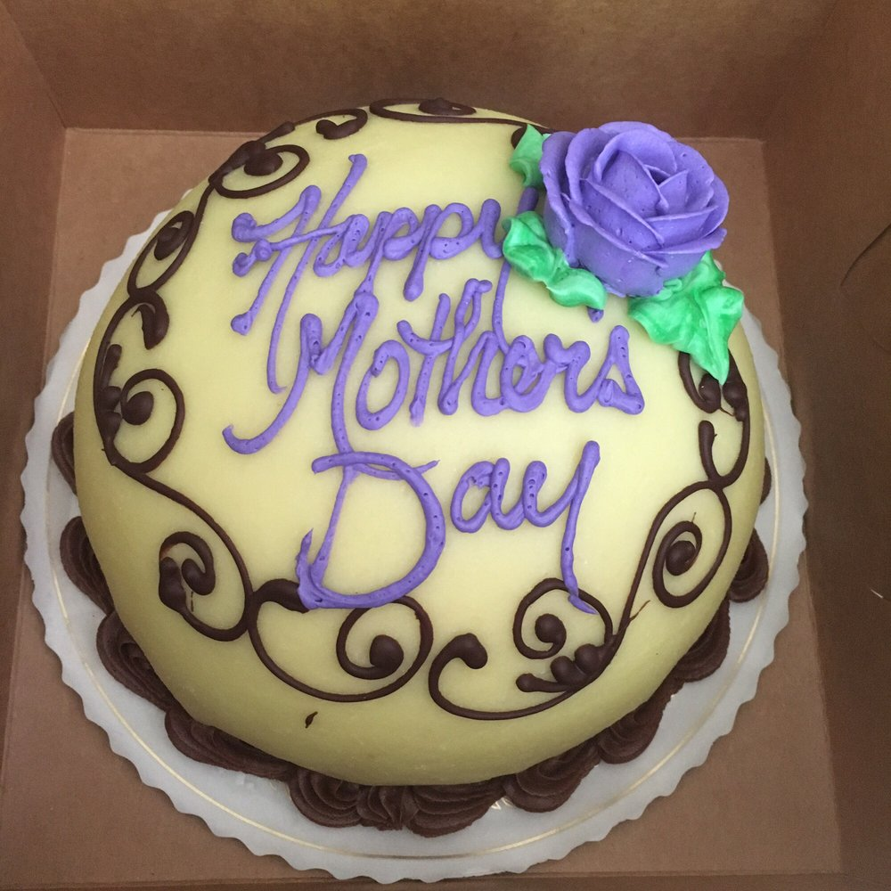 princess cake with purple writing and purple flower! - yelp