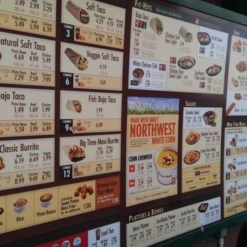 tacotime canada menu