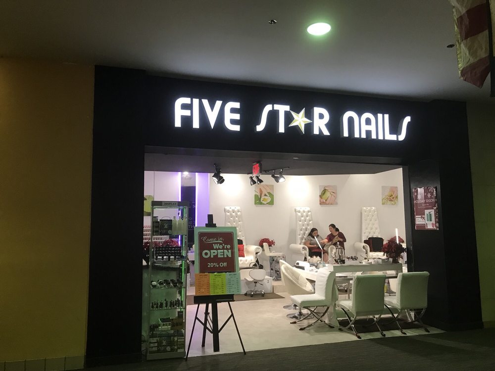 Five Star Nails located on the 2nd floor just outside Macy\'s in the ...