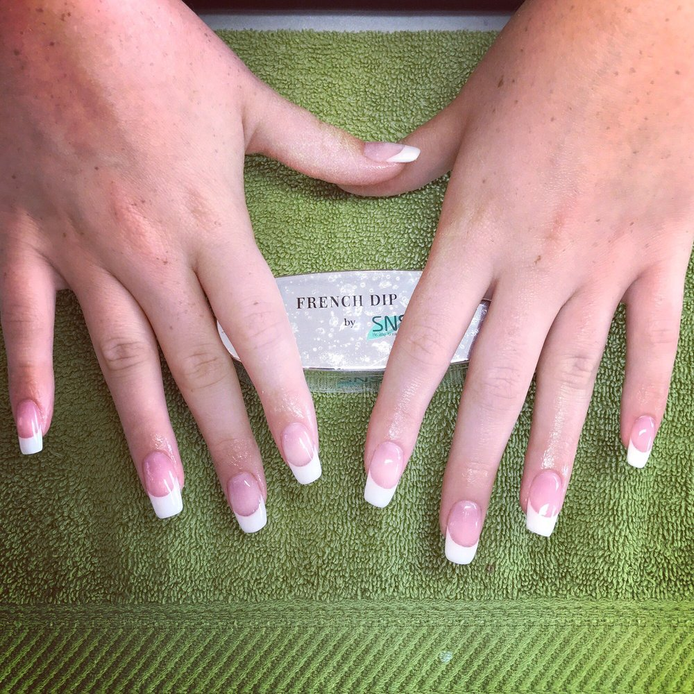 French dip manicure | real nails | healthy - Yelp