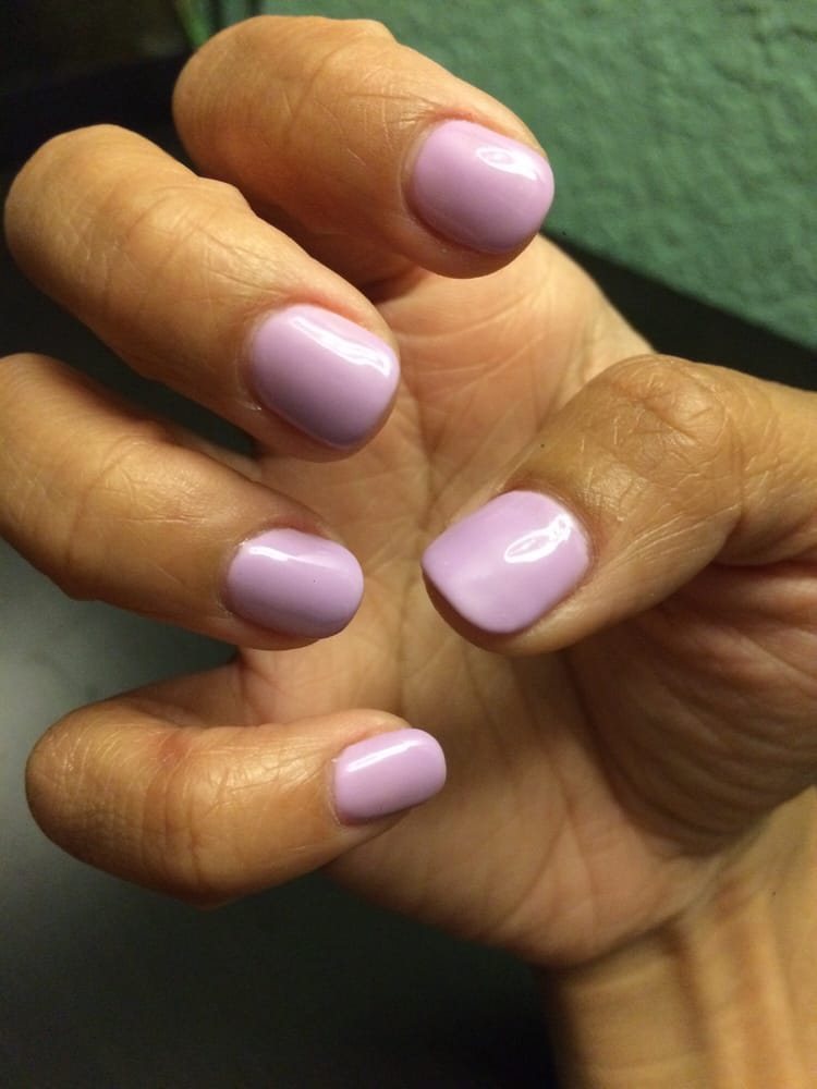 Simple and clean short round gel mani with my natural nails. Thanks ...