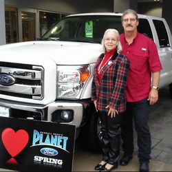 What types of vehicles are available at Planet Ford in Humble, Texas?