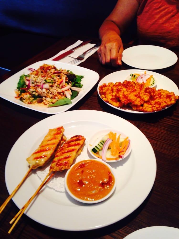 Lab gai chicken salad chicken satay and crispy corn yelp for 5 star thai cuisine