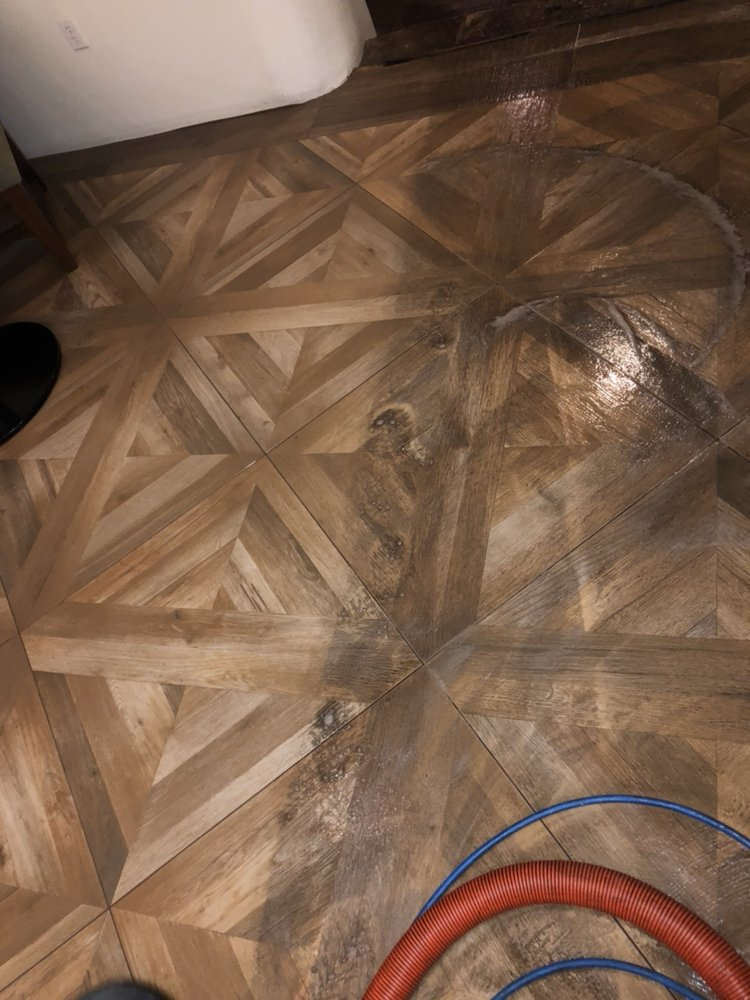 Wood Looking Tile Floor Cleaning Before And After Yelp