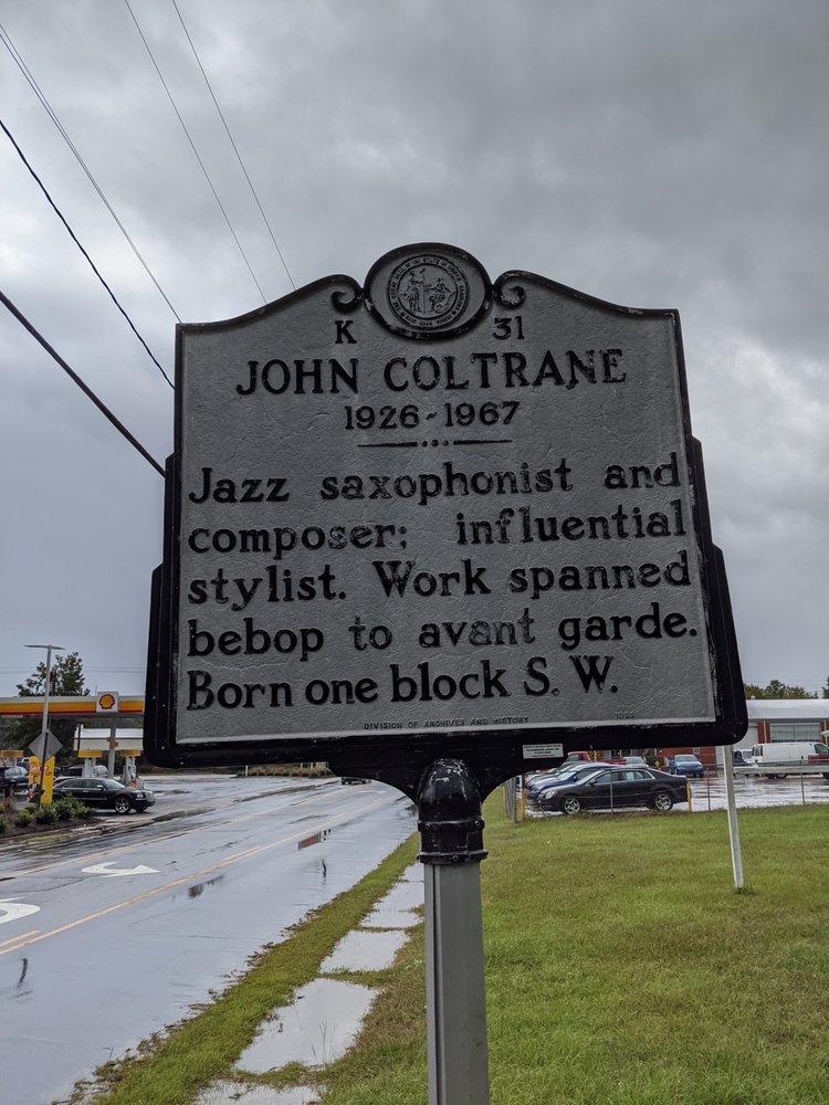 John Coltrane Historical Marker: Hamlet Ave & Bridges St, Hamlet, NC