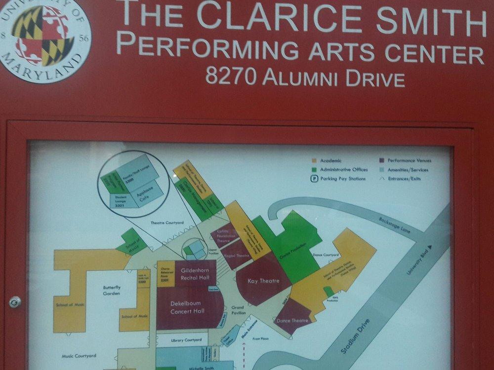The Clarice Smith Performing Arts Center: University Blvd & Stadium Dr, College Park, MD