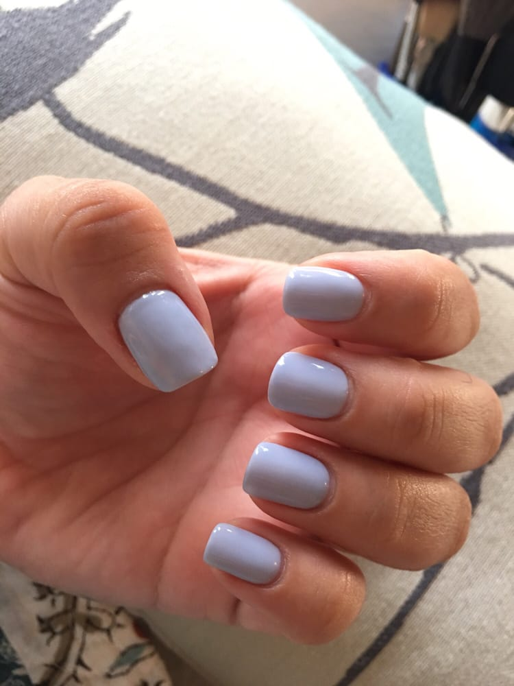 Periwinkle is my fav nail color . Gel Mani by Ann OPi T76 - Yelp