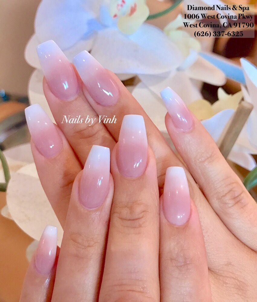 Ombre Nails by Vinh. Using Sugar and Cream powder. - Yelp
